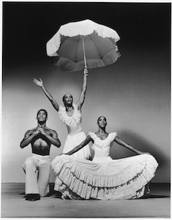 Don Bellamy, Renee Robinson and Nasha Thomas in Alvin Ailey's 'Revelations'. Photo by Jack Mitchell.