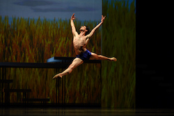 Joseph Walsh in Yuri Possokhov's 'Swimmer'. Photo by Erik Tomasson.