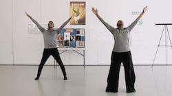 Nasha Thomas and Michael Thomas teaching Revelations Virtual Dance Workshop Series. Photo courtesy of Ailey.