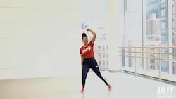 Rachel Watson-Jih teaching AileyDance Kids virtual residency. Photo courtesy of Ailey.