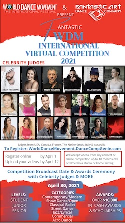 The Fantastic World Dance Movement International Virtual Dance Competition.