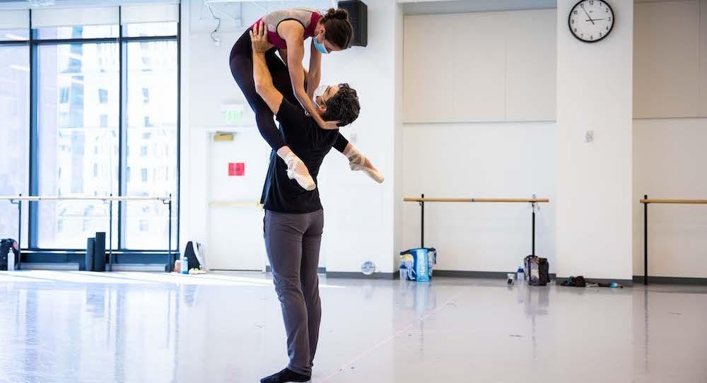 Ballet West First Soloist Allison DeBona and Principal Rex TIlton. Photo by Beau Pearson.