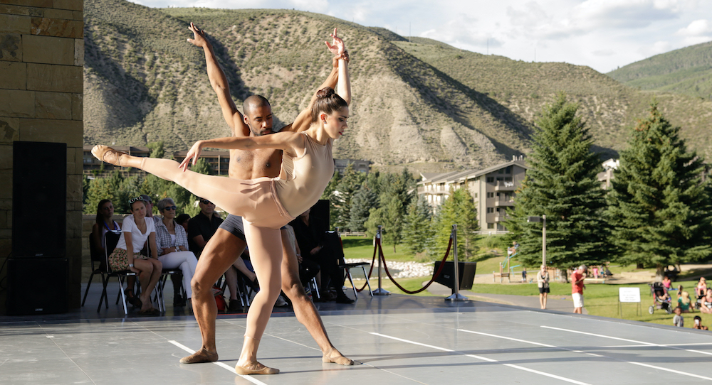 BalletX dancers Francesca Forcella and Gary Jeter in Jorma Elo's 'Gran Partita' at the 2015 Vail Dance Festival. Photo by Erin Baiano.
