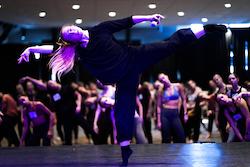 Jenn Freeman teaching at Revive Dance Convention. Photo by Drew Dizzy Graham.