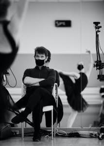 San Francisco Ballet School Director Patrick Armand observes rehearsal of the Virtual Festival. Photo by Erik Tomasson.