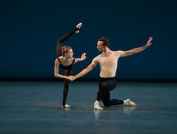 Sterling Hyltin and Ask la Cour in George Balanchine's 'Stravinsky Violin Concerto'. Photo by Rosalie O'Connor.