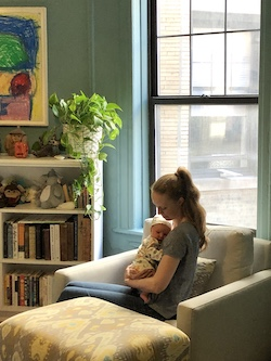 Teresa Reichlen at home with her son, Ozzie. Photo courtesy of Reichlen.