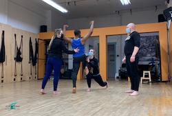 Ashleyliane Dance Company in rehearsal.