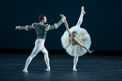 Devon Teuscher and Cory Stearns in the 'Swan Lake', Act II pas de deux. Photo by Todd Rosenberg Photography.
