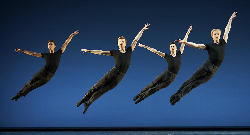 San Francisco Ballet in Helgi Tomasson's '7 For Eight'. Photo by Erik Tomasson.