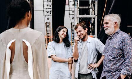 Andrea Miller, Esteban Cortazar and Marc Happel. Photo by Nina Westervelt.