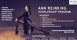 Ann Reinking Scholarship Program.