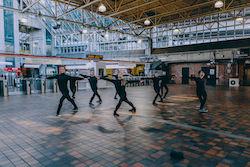 Boston Ballet in John Lam's 'moving pARTS'. Photo by Bearwalk Productions, courtesy of Boston Ballet.