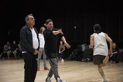 Paul Becker working with Kenny Ortega.