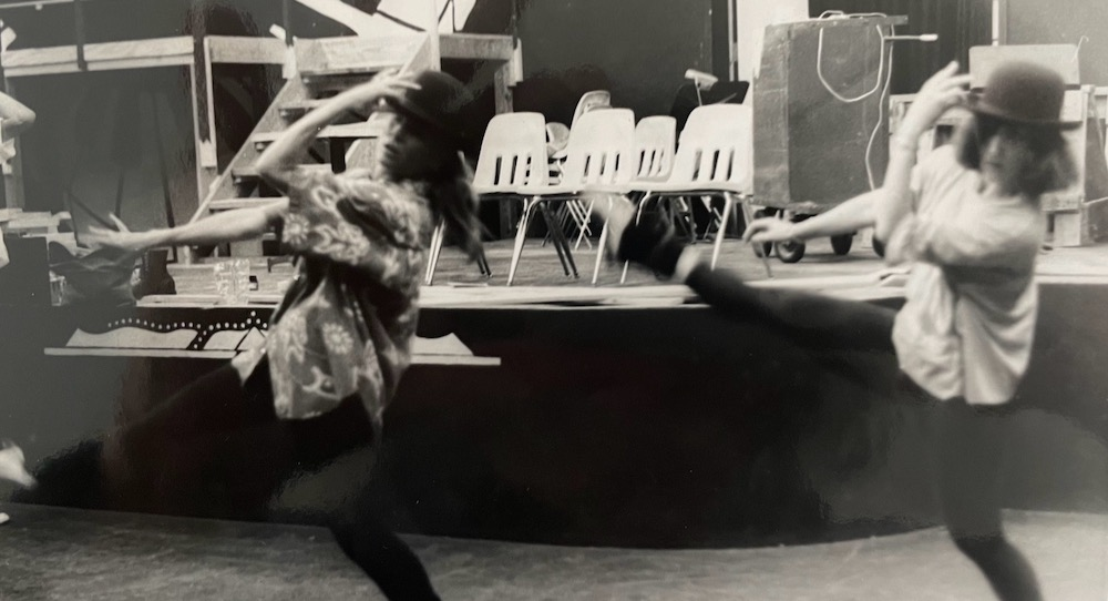 Ann Reinking and Debra McWaters. Photo courtesy of McWaters.