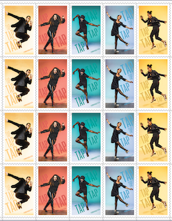 The new U.S. Postal Service stamps in honor of American Tap Dance.