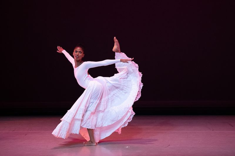 Alvin Ailey American Dance Theater's Jacqueline Green in a new film adaptation for the 50th anniversary of Alvin Ailey's 'Cry'. Photo by Christohper Duggan.