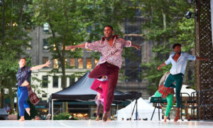 Contemporary dance at Bryant Park. Photo by Andrew Fassbender.
