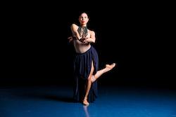 The Joffrey Ballet's Anais Bueno in Yoshihisa Arai's 'Boléro'. Photo by Matt de la Peña.