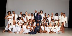 Alvin Ailey Amerian Dance Theater with Artistic Director Robert Battle, Associate Artistic Director Matthew Rushing and Rehearsal Director Ronni Favors. Photo by Dario Calmese.