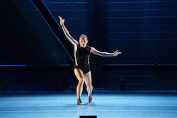American Repertory Ballet's Annie Johnson in Amy Seiwert's 'World, Interrupted'. Photo by Eduardo Patino.