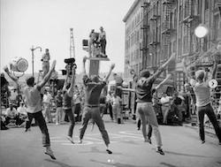 Jerome Robbins and Robert Wise directing dancers in 'West Side Story'. Photo courtesy of NY Public Library of the Performing Arts.
