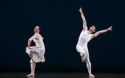 Paul Taylor Dance Company's Christina Lynch Markham and Sean Mahoney in 'Aureole'. Photo by Paul B. Goode.